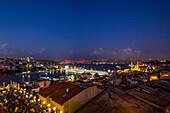 Istanbul panorama with view on the galat bridge, Turkey