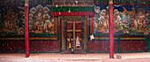 Door of Lamayuru monastery, Ladakh, India, Asia