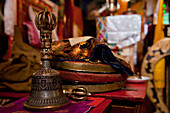 Bell in a buddhist monastery, Ladakh, India, Asia