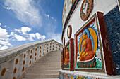 Shanti Stupa in Leh, Ladakh, India, Asia