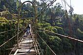 Swing bridge in Arunachal Pradesh, India, Asia