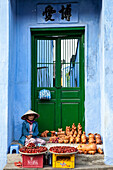 Woman at the market of Hoi An, Vietnam, Asia