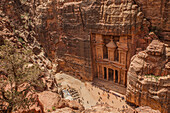Archaeological city Petra in Jordan, Asia