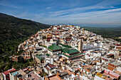 Moulay Idris from above, Morocco, Africa