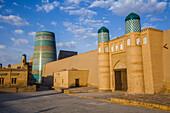 Kalta Minor minaret in Khiva, Uzbekistan, Asia