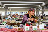 At the market of Samarkand, Uzbekistan, Asia