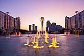 View on Bajterek tower in Astana, Kazakhstan, Asia