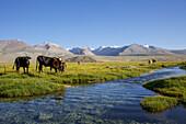 Holy lake Ak Balyk, Tajikistan, Asia