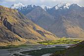 Tajik Wakhan with view on Afghanistan, Tajikistan, Asia