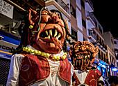 Baile de Magos, traditional street party, Icod de los Vinos, Tenerife Island, Canary Islands, Spain, Europe
