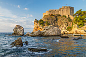 The fortress Lovrijenac outside the old town of Dubrovnik, Croatia, Europe