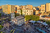 View of Greek Orthodox Church in Monastiraki Square during late afternoon, Monastiraki District, Athens, Greece, Europe