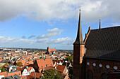 View from St. Georgen, Wismar, Ostseekueste, Mecklenburg-Vorpommern, Germany