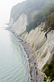Chalk cliffs, Ruegen, Baltic Sea coast, Mecklenburg-Vorpommern, Germany