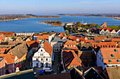 View from the church tower, Ostseekueste, Mecklenburg-Vorpommern, Germany