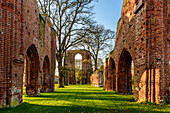 Monastery ruins Eldena in Greifswald. Baltic Sea Coast, Mecklenburg-Vorpommern, Germany