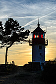 Lighthouse Hellen and landscape in the evening light, Hiddensee, Ruegen, Ostseekueste, Mecklenburg-Vorpommern, Germany