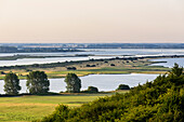 View on peninsula Bessin, Hiddensee, Ruegen, Baltic Sea coast, Mecklenburg-Vorpommern, Germany