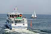 Ferry connection between Vitte and Schaprode, Hiddensee, Ruegen, Ostseekueste, Mecklenburg-Vorpommern, Germany