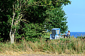 Beach chair in Goor near Cape Arkona, Baltic Sea coast, Mecklenburg-Vorpommern Germany