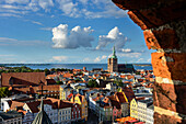 View of the old town from the St. Marien church, Ostseekueste, Mecklenburg-Vorpommern, Germany