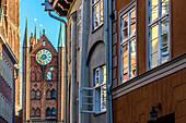 Rathaus am Alten Markt, Stralsund, Baltic Sea Coast, Mecklenburg-Vorpommern, Germany