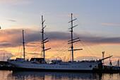 Stralsund, Ship Museum Gorch Fock 1, Ostseekueste, Mecklenburg-Vorpommern, Germany