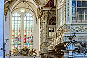 Marien Kirche from inside, Rostock, Ostseekueste, Mecklenburg-Vorpommern Germany