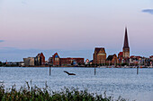 View on old town, Rostock, Baltic Sea coast, Mecklenburg-Vorpommern, Germany