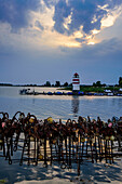 Harbor Place Waase on Ummanz, Ruegen, Baltic Sea Coast, Mecklenburg-Vorpommern, Germany
