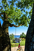 Cafe in Goor near Cape Arkona, Baltic Sea Coast, Mecklenburg-Vorpommern Germany