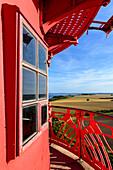 View from the lighthouse of Kap Arkona, Ruegen, Ostseekueste, Mecklenburg-Vorpommern, Germany