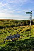 Information sign in the fishing village Vitt, Ruegen, Baltic Sea coast, Mecklenburg-Vorpommern, Germany