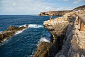 Former embarking place for the limekilns of Ajuy, Fuerteventura, Canary Islands, Islas Canarias, Atlantic Ocean, Spain, Europe