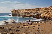 Beach and coast at La Pared, Fuerteventura, Canary Islands, Islas Canarias, Atlantic Ocean, Spain, Europe