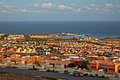 Sunset at Caleta de Fustes, Fuerteventura, Canary Islands, Islas Canarias, Atlantic Ocean, Spain, Europe