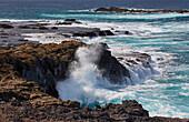 Storm and waves at thePunta de Jandía, Fuerteventura, Canary Islands, Islas Canarias, Atlantic Ocean, Spain, Europe