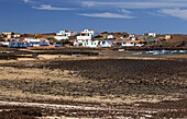 Boats and huts at Playa de Majanicho, Fuerteventura, Canary Islands, Islas Canarias, Atlantic Ocean, Spain, Europe