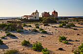 House of unusual architecture at El Cotillo beach, Fuerteventura, Canary Islands, Islas Canarias, Atlantic Ocean, Spain, Europe
