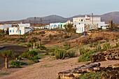 Village of Las Salinas near Caleta de Fustes at sunrise, Fuerteventura, Canary Islands, Islas Canarias, Atlantic Ocean, Spain, Europe