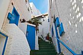 Steep lane at Las Playitas, Fuerteventura, Canary Islands, Islas Canarias, Atlantic Ocean, Spain, Europe