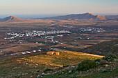 View from the viewpoint Mirador Morro Verlosa at Antigua, Fuerteventura, Canary Islands, Islas Canarias, Atlantic Ocean, Spain, Europe