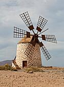 Old mill near Tefía, Fuerteventura, Canary Islands, Islas Canarias, Atlantic Ocean, Spain, Europe