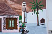 Wall painting at Antigua, Fuerteventura, Canary Islands, Islas Canarias, Atlantic Ocean, Spain, Europe