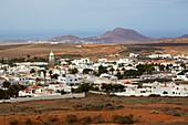 View from the Castillo de Santa Barbara at Teguise, Atlantic Ocean, Lanzarote, Canary Islands, Islas Canarias, Spain, Europe