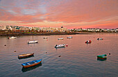 Morning glow at Costa Teguise, Atlantic Ocean, Lanzarote, Canary Islands, Islas Canarias, Spain, Europe