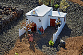 Open air nativity figurines in the town of Yaiza, Atlantic Ocean, Lanzarote, Canary Islands, Islas Canarias, Spain, Europe
