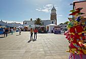 Sundays' market at Teguise, Atlantic Ocean, Lanzarote, Canary Islands, Islas Canarias, Spain, Europe