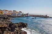 View at the harbour of Los Abrigos, Tenerife, Canary Islands, Islas Canarias, Atlantic Ocean, Spain, Europe