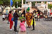 Carnival at the main square at Buenavista del Norte, Tenerife, Canary Islands, Islas Canarias, Atlantic Ocean, Spain, Europe